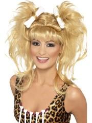 perruque femme des cavernes, perruque avec os, perruque préhistoire, perruque cromagnon, perruques paris pas cher Perruque Femme des Cavernes, Blonde