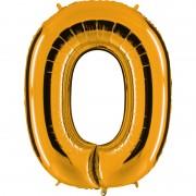 ballon chiffre, ballon alu chiffre, ballon zéro or Ballon Aluminium, Chiffre 0, Or