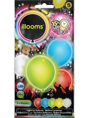 ballons à led, ballons lumineux, ballons fluos Ballon à LED, x 5