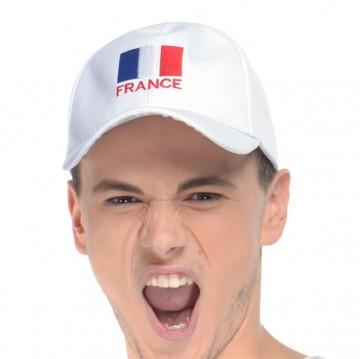 casquette france, supporter euro 2016, accessoires de supporter france, accessoires euro 2016, accessoires france euro 2016, boutique supporter Casquette de Supporter France, Blanc