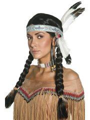 perruque femme, perruque paris, perruque d'indien, perruque d'indienne, perruque de déguisement d'indien, perruque de déguisement d'indienne Perruque d'Indienne, Tresses, Noire