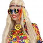 accessoire hippies, accessoires psychédélique, bandeau de hippie, bandeau à plumes, bandeau hippies, accessoire de déguisement, accessoire déguisement hippie Bandeau Hippie, Plumes et Perles