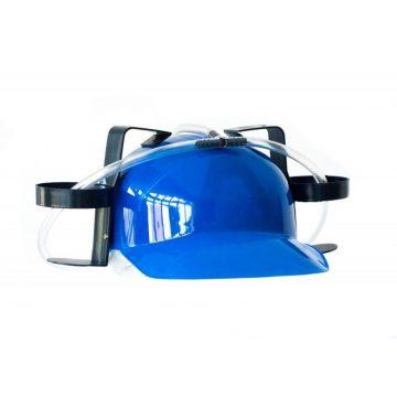 casque bière, casque boissons, casquette porte canettes, casques humour, casques pailles Casque Boissons, Bleu