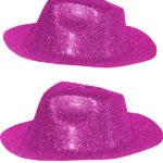 chapeaux à paillettes, chapeaux borsalino, chapeaux de fête, chapeaux paris, chapeaux pas cher, chapeaux années 30 Chapeau Borsalino Paillettes, Rose Fuchsia
