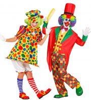 déguisement couple clowns, déguisement à deux, déguisement de clown homme et femme Clown et Clown