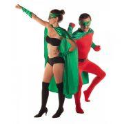 accessoire héros, accessoire de super héros, kit de super héros, cape de héros, accessoire déguisement héros, accessoire super héros déguisement Kit de Héros, Vert