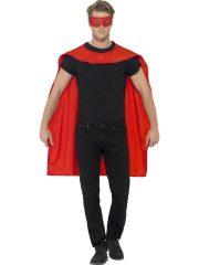 accessoire héros, accessoire de super héros, kit de super héros, cape de héros, accessoire déguisement héros, accessoire super héros déguisement Kit de Super Héros, Cape et Masque, Rouge