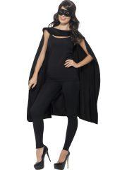 accessoire héros, accessoire de super héros, kit de super héros, cape de héros, accessoire déguisement héros, accessoire super héros déguisement Kit de Super Héros, Cape et Masque, Noir