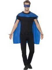 accessoire héros, accessoire de super héros, kit de super héros, cape de héros, accessoire déguisement héros, accessoire super héros déguisement Kit de Super Héros, Cape et Masque, Bleu