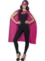 accessoire héros, accessoire de super héros, kit de super héros, cape de héros, accessoire déguisement héros, accessoire super héros déguisement Kit de Super Héros, Cape et Masque, Rose