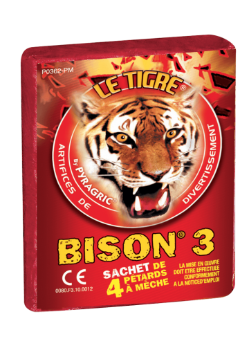pétards, pétards et fumigènes, pyragric, acheter des pétards à paris, pétards bisons, pétards le tigre Pétards, Le Tigre Bison 3