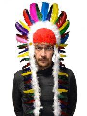 coiffe d'indien, plumes d'indien, accessoire déguisement indien, déguisement d'indien, coiffe d'indien à plumes, coiffure d'indien, coiffe de chef indien, coiffe déguisement Coiffe d'Indien, Cheval Fou