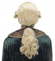 perruque pour homme, perruque pas chère, perruque de déguisement, perruque homme, perruque de marquis, perruque versailles, perruque blonde Perruque de Marquis, Comte Alfonso, Blonde