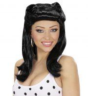 perruque femme années 50, perruque brune, perruque années 60, perruque des années 50, perruque de déguisement, perruque pas cher femme, perruques à paris Perruque Pin Up Années 50, Noire