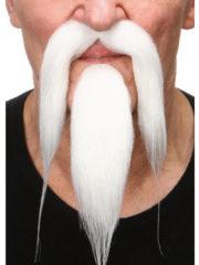 fausses moustaches, postiche, moustache postiche, fausses moustaches réalistes, fausse moustache de déguisement, moustache asiatique, moustache avec bouc, moustache de chinois, moustache blanche Moustache et Bouc, Luxe, Chinois, Blanche