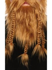 fausse barbe, fausses moustaches, postiche, barbe postiche, fausse barbe réaliste, fausse barbe de déguisement, barbe de viking, barbe avec tresses, barbe avec nattes, barbe de gaulois Barbe, Luxe, Gaulois et Viking, Blonde