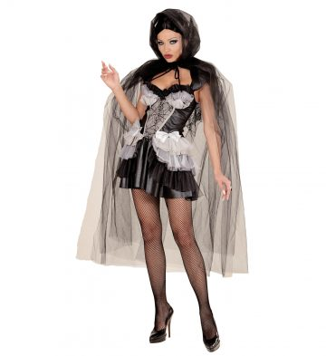 cape halloween femme, cape en tulle halloween, cape halloween adulte, cape femme carnaval de venise, cape transparente adulte, cape halloween déguisement Cape à Large Capuche, Noire, Tulle Brillant