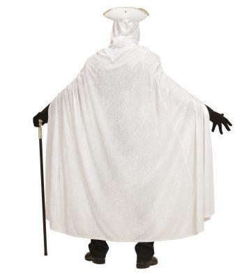 cape velours halloween, cape blanche à capuche, cape déguisement halloween, cape carnaval de venise déguisement, cape blanche à capuche, cape velours adulte, cape déguisement adulte Cape Blanche à Capuche, Velours