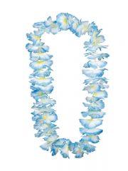 collier hawaïen, collier hawaï, collier de fleurs hawaïen, collier de fleurs hawaï, collier de fleurs hawaïen pas cher Collier de Fleurs Hawaïen, Bleu et Blanc