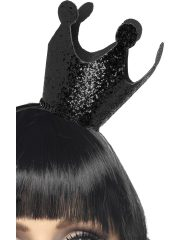 accessoire déguisement, couronne noire déguisement, accessoire halloween, couronne reine blanche neige, accessoire diable halloween Couronne Evil Queen, Noire