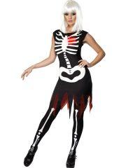 déguisement halloween femme, costume hallwoeen femme, déguisement squelette halloween, déguisement squelette adulte, costume halloween, déguisement squelette femme, robe de squelette déguisement, déguisements halloween paris Déguisement Squelette, Coeur Lumineux