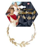 couronne de lauriers, couronne de lauriers romains, accessoire déguisement romains, accessoire déguisement jules césar, accessoire couronne de lauriers Couronne de Lauriers, Feuilles d'Or