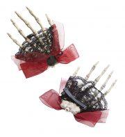accessoire halloween femme, accessoire cheveux halloween, accessoire femme halloween, barrette halloween, accessoire squelette halloween Broche ou Pince à Cheveux, Main de Squelette