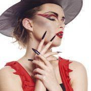 faux ongles sorcière, maquillage halloween, accessoire sorcière déguisement, faux ongles noirs sorcière, faux ongles halloween, déguisement halloween, accessoires halloween maquillage Faux Ongles de Sorcière