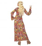 déguisement hippie femme, costume hippie femme, déguisement flower power femme, costume flower power femme, costume années 70 femme, déguisement années 70 femme, déguisement peace and love femme, costume femme hippie Déguisement Hippie, Robe Longue 70s