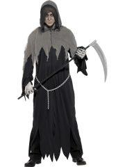 déguisement fantôme halloween, déguisement halloween, déguisement halloween homme, costume halloween adulte, déguisement halloween adulte, déguisement scream Déguisement Mort, Grim Reaper, avec Chaîne