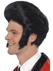 perruque pour homme, perruque pas chère, perruque de déguisement, perruque homme, perruque noire, perruque banane, perruque elvis, perruque king, perruque années 60 Perruque Elvis Quiff King, Rock
