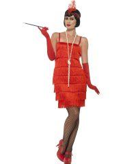 robe charleston déguisement, déguisement charleston, déguisement années 30, robe années 20, costume cabaret, déguisement cabaret femme, déguisement robe charleston Déguisement Charleston, Flapper Rouge, Longueur 1