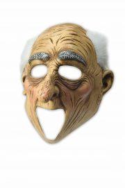 masque bouche ouverte, masque de déguisement, accessoire masque déguisement, accessoire masque halloween, accessoire déguisement halloween, masque horreur halloween, accessoire masque horreur, masque latex déguisement Masque de Vieil Homme, Latex