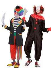 déguisement couple halloween, déguisement clown qui fait peur, déguisement clown halloween, déguisement clown maléfique, costume clown effrayant, déguisement halloween homme, costume halloween homme, déguisement halloween adulte Killer Clown et Clown Evil