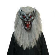 masque de déguisement, accessoire masque déguisement, accessoire masque halloween, accessoire déguisement halloween, masque horreur halloween, accessoire masque horreur, masque latex déguisement, masque de zombie, masque loup garou halloween, masque de loup adulte Masque de Loup Effrayant