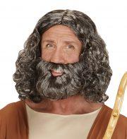 perruque pour homme, perruque pas chère, perruque de déguisement, perruque homme, perruque jésus, perruque déguisement homme, perruque avec barbe déguisement, perruque pas chère déguisement, perruque cheveux longs homme, perruque cheveux gris Perruque + Barbe, Biblique