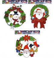 décorations de noel, décorations fenêtre sapin, décorations noel magasin, décorations père noel, décos noel pour fenêtre Stickers de Fenêtre, Décoration Noël