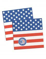 décorations américaine, serviettes drapeau américain, décorations états unis déguisement, accessoire drapeau américain, soirée à thème états unis décorations Thème Etats Unis, Serviettes Drapeau Américain
