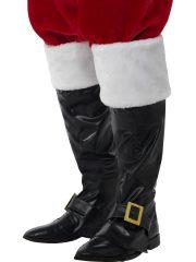 bottes de père noel, surbottes de père noel, accessoire père noel déguisement, fausses bottes de père noel, accessoire déguisement père noel, déguisement père noel adulte pas cher Surbottes de Père Noël