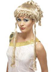 perruque femme, perruque paris, perruque romaine, perruque déesse grecque, perruque antiquité, perruque de déesse, perruque grèce antique Perruque Déesse Romaine et Grecque, Blonde