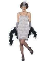 déguisement charleston, robe charleston déguisement, déguisement charleston, déguisement années 30, robe années 20, costume cabaret, déguisement cabaret femme, déguisement robe charleston Déguisement Charleston, Flapper Argent, Longueur 1