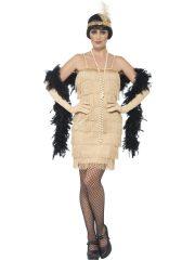 déguisement charleston, robe charleston déguisement, déguisement charleston, déguisement années 30, robe années 20, costume cabaret, déguisement cabaret femme, déguisement robe charleston Déguisement Charleston, Flapper Or, Longueur 1