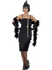 déguisement charleston, robe charleston déguisement, déguisement charleston, déguisement années 30, robe années 20, costume cabaret, déguisement cabaret femme, déguisement robe charleston Déguisement Charleston, Flapper Noir, Longueur 2