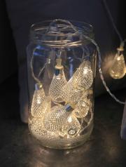 guirlande lumineuse led, décorations noel boutique, décoration à led boutique paris, guirlande originale lumineuse led paris, décorations led, guirlande raffia lumineuse Guirlande Lumineuse, Bulbes Métalliques Argent