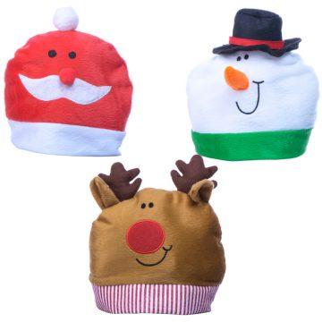bonnet de noel pour enfant, bonnet père noel enfant, bonnet noel rigolo enfant, bonnet de père noel Bonnet de Noël, 3 Modèles