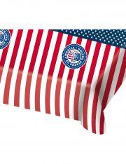 nappe drapeau américain, décoration drapeau américain, vaisselle états unis, décos américaines déguisement, accessoire drapeau américain décoration Nappe Drapeau Américain