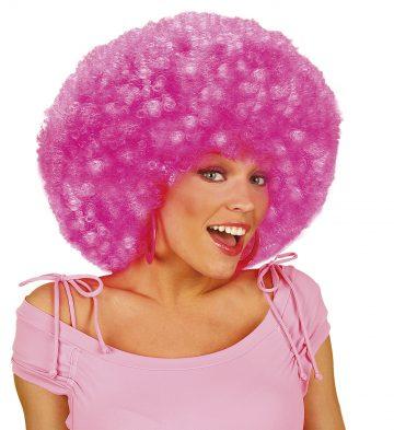 perruque afro disco, accessoire perruque déguisement, perruque afro disco, perruque pour homme, perruque pour femme, perruque pas chère, perruque de déguisement, perruque unisexe, perruque rose, perruque afro Perruque Afro Disco, Rose