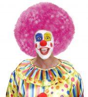 perruque afro disco, accessoire perruque déguisement, perruque afro disco, perruque pour homme, perruque pour femme, perruque pas chère, perruque de déguisement, perruque unisexe, perruque rose, perruque afro Perruque de Clown, Afro Disco 80, Rose