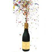 cotillons bouteille champagne, confettis bouteille champagne, canon à confettis champagne, canon à confettis cotillons réveillons, serpentins réveillon, bouteille champagne cotillons Bouteille de Champagne, Canon à Serpentins et Confettis