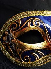masque vénitien, loup vénitien déguisement, masque venitien homme, acheter masque vénitien paris, masque vénitien femme, boutique masque vénitien paris, masque vénitien fait main Vénitien, Civette Comédia, Bleu